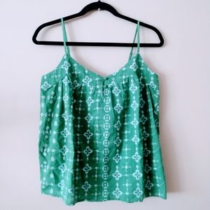 Lucky Brand Green Tank Top Size S